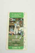 NFL Football Ticket Stub 1979 Bob Griese Game 10 Miami Dolphins Vs New York Jets