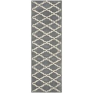 Hand-Tufted Safavieh Dark Grey Wool Runner Rug 2' 3 x 11'