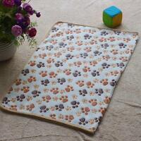 Hamsters Pad Blanket Soft Pet Mat Cat Dog Puppy Warm Bed Print Paw Pattern Cover