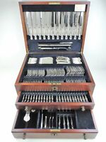 133 piece Boxed 12 person SILVER KING'S CANTEEN of CUTLERY, Sheffield 1993 CARRS