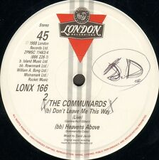 THE COMMUNARDS - For A Friend - London