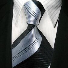 1x BLK Striped Skinny Tie Slim Punk Party Fashion Necktie Formal Casual M032