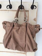 Zara Kunst Leder Henkel Trage Schulter Tasche zu Mantel Jacke Beige