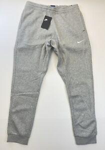 Nike Men's Club Swoosh Fleece Sweatpants Grey Size  Large 826431-063 A16
