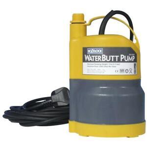 Hozelock Water Butt Garden Pump 1.1 BAR / 16 PSI Submersible UK Mains (2826)