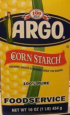 ARGO Cornstarch 100% PURE    FREE SHIPPING!  16oz