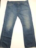 Levis 501 Jeans Mens 42 Waist 32 Inseam Blue Denim Pants Button Fly 42x32 EUC