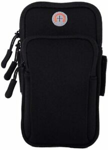 MOVOYEE Phone Armband Gym Holder for Arm,iPhone Pouch iPhone 1-Black