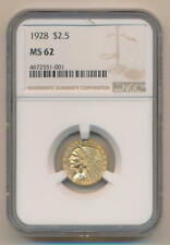 1928 $2.5 Gold Indian. NGC MS62