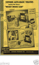 1956 PAPER AD Stephens Auto Magic Theaters Mickey Mouse Club Picture Gun