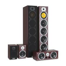 Sistema Home Cinema Theatre Audio Surround Dolby Altoparlanti Satelliti Marrone