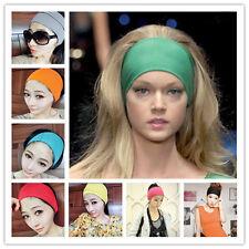 8X UniSex Ladies Mens Sports HairBand Stretchy Sweatband Yoga Gym Hair Head Band