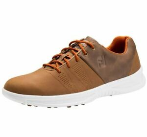 FootJoy Contour Casual Spikeless Men's Golf Shoes 54057 Brown 10.5 Wide #83220