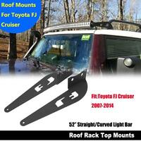 "For FJ C RUISER 07-14 52"" 500W Straight Curved LED Work Light Bar Mount Bracket"