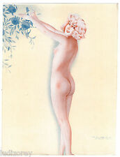 12 - DESSIN MAURICE PEPIN MISS ART DECO PHOTOGRAVURE VINTAGE PIN-UP SEXY NUE