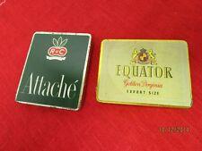 2 Zigaretten Blechdosen - Attache R u C Zigaretten + Equator Golden Virginia/S39