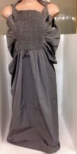 Rick Owens  Dress Gray Size 10 Puffy Sides Gathered Front
