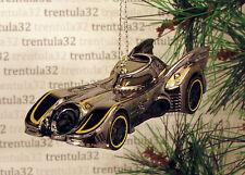 BATMAN Batmobile CHRISTMAS TREE ORNAMENT Dark Chrome Grey Yellow XMAS