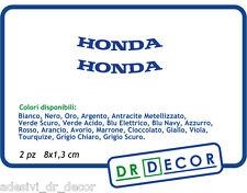 """Adesivi Moto"""" Honda """" SBK MotoGP HRC VFR CBR Hornet  Africa Twin 2 pz 8 x 1,3 cm"""