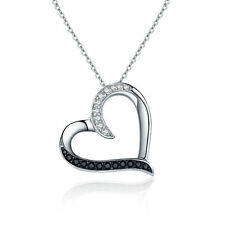 Hot Sales 925 Sterling Silver Love Heart Charm Pendant Necklace Sweet Gift
