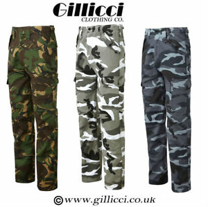 MENS CASUAL WORKWEAR CAMOUFLAGE CAMO WOODLAND OUTDOOR ARMY COMBAT TROUSERS PANTS