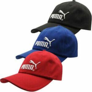 Puma Mens No1 Logo Curved Peak Baseball Cap 100% Cotton Sports Hat Adjustable