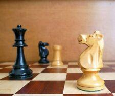 "Vintage Lardy Staunton Chess Set. Made in France 4 1/8"" King."