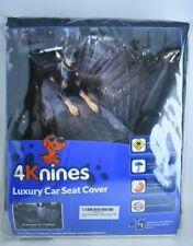 4KNINES Black XL Luxury Rear Bench w/ Hammock Option Car Seat Cover