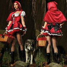 Women Costume Little Red Riding Hood Cosplay Halloween Fancy Dress Stage Outfit