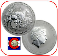 2014 Lunar Horse 1 oz Silver Coin, Series II from Perth Mint in Australia