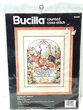 Bucilla Cross Stitch Kit Vintage 14 ct Praise God Religious Biblical Counted