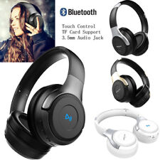 Bluetooth Headset with Mic Touch Control Hifi Music Game Hands-free Headphone