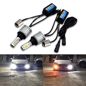 SOCAL-LED 1157 DRL Bulb Super Bright 30W Dual Tone White Amber Turn Signal Light