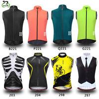 Mens Cycling Gilet Jacket Breathable MTB Bike Sleeveless Vest For Running Sports