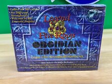 Legend Of The Five Rings Obsidian Edition Crane Clan Stronghold Starter Sealed