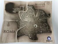 Assassin's Creed Brotherhood Double-Sided ROMA Rome Map + Signed Poster RARE NEW