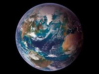 "Earth Western Hemisphere from Space CANVAS ART PRINT 24""X18"" poster"