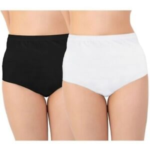 Womens Ladies 100% Cotton INCONTINENCE Pants WASHABLE WITH PAD Briefs Knickers