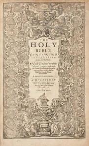 1611 King James Bible Leaf, 4th issue 1634 ~ 59 line ~ We Choose OT Leaf~