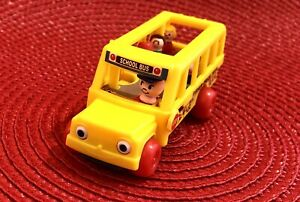 """Mini working Fisher Price Bus for Ginny Heartstrings Barbie 7-14"""" Doll Diorama"""