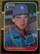 RANDY MYERS 1987 Donruss Baseball Card #29 Rated Rookie) New York Mets  VG