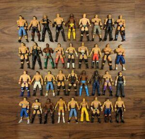 HUGE WWE Mattel Wrestling Flex Force Figure Lot WWF WCW ECW AEW Punk Rock Cena