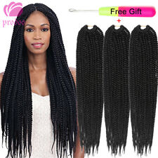 "18"" 6 pack Senegalese 3X BOX Braid Hair Twist Crochet Synthetic Hair Extensions"