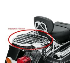Chrome King Two-Up Luggage Rack For 2009-2016 Touring Road King / Street Glide