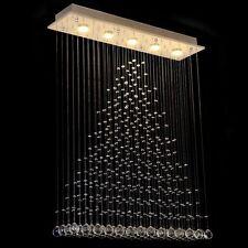 Modern Clear Crystal Lighting Rain Drop Ceiling Lighting 5-Lights Chandelier