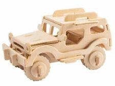Puzzle, Holz, 3D, Jeep, Holzbausatz