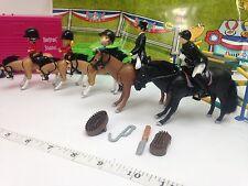NEW 38 PCS HORSE EQUESTRIAN RIDER SET JUMPING SHOW KIDS TOYS JOCKEY ACCESSORIES