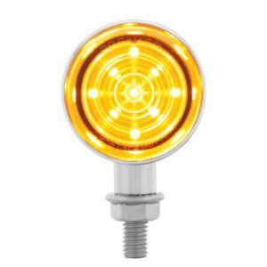 9 LED Dual Function Mini Bullet Light - Amber LED/ Amber Motorcycles Trucks