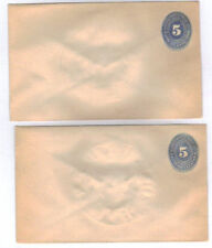 Mexico 5c Postal Stationery Envelope 1880's (Pair)