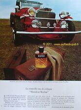 PUBLICITE EAU de COLOGNE MONSIEUR ROCHAS EXCALIBUR 1973